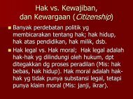 Hak vs. Kewajiban, dan Kewargaan (Citizenship) - Kumoro.staff.ugm ...