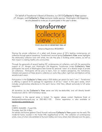 Collector's View 2012 Invite - Transformer
