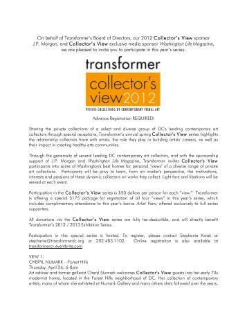 Collector's View 2012 Invite - Transformer