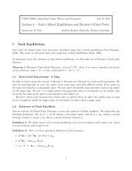 Notes 4.pdf - Algorithmic Game Theory and Economics