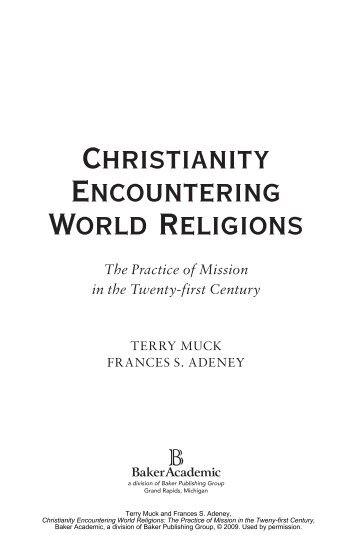 Christianity Encountering World Religions - Baker Publishing Group