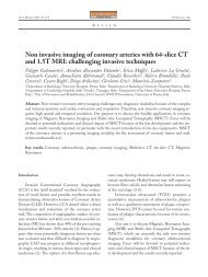 Non invasive imaging of coronary arteries with 64 ... - ResearchGate