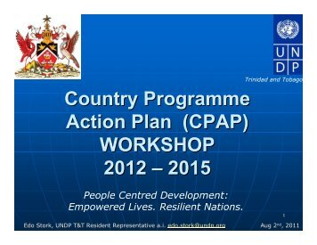 CPAP - UNDP Trinidad and Tobago