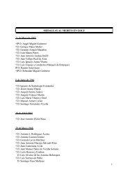 Listado de Medallas y Placas al Mérito en Golf - Real Federación ...
