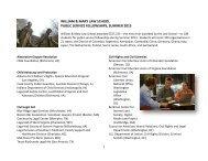 william & mary law school public service fellowships, summer 2013