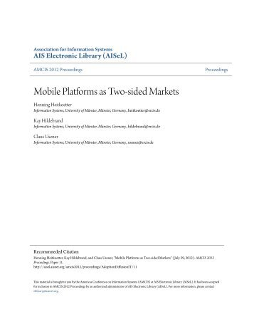 essays on the economics of two-sided markets View two-sided markets research papers on academiaedu for free  economics, microeconomics, two-sided markets  the present essay studied the conceptual,.