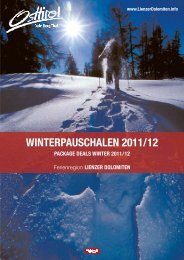 Winterpauschalen 2011/12 - Reise TV