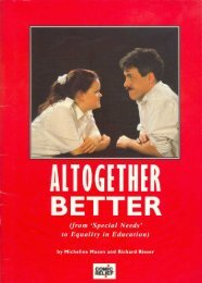 Altogether Better - Richard Rieser - Disability Equality