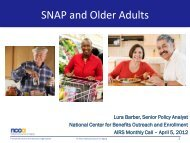 SNAP and Older Adults - National Association of States United for ...
