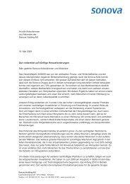 An alle Aktionärinnen und Aktionäre der Sonova Holding AG 19. Mai ...