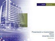 Cuarto Trimestre 2006 - Banco Security