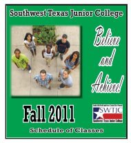Fall 2011 Schedule of Classes Southwest Texas Junior College - swtjc