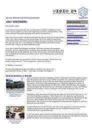 VISIO 24 Newsletter August 2011 - VISIOMETALL