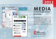 Online-Media-Informationen 2012 - technik + EINKAUF