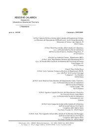 Regione Calabria - Dipartimento Urbanistica e Governo del Territorio