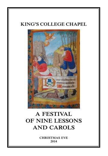 festival-nine-lessons-2014