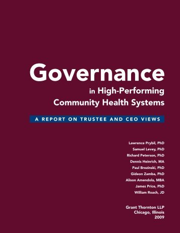 in High-Performing Community Health Systems - Alliance for ...