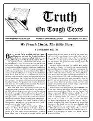 On Tough Texts - Sola Scriptura Ministries