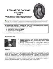 LEONARDO DA VINCI - Art Heritage