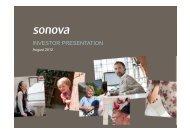 opex: +1.1% vs sales - Sonova