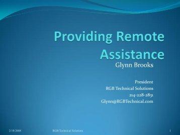 200410-Providing Remote Assistance