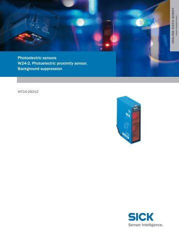Photoelectric sensors W24-2, Photoelectric proximity sensor ...