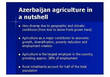 Azerbaijan agriculture in a nutshell - TEAS