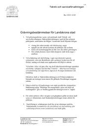 Grävningsbestämmelser för Landskrona stad - Landskrona kommun