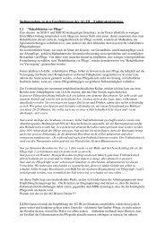 Stellungnahme zur AG III - Pflegen mit Konzept - Stösser Standard
