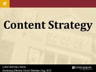 Content Strategy presentation