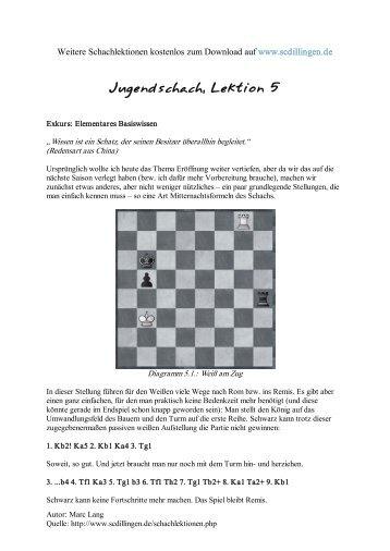 Jugendschach - Kompletter Schachkurs für Jugendliche, Lektion 5