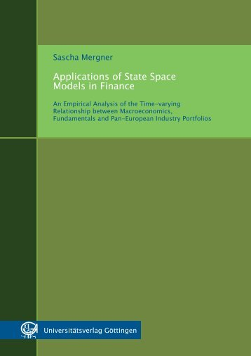 Applications of state space models in finance