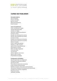 CURSO DE PUBLISHER - cev empresas