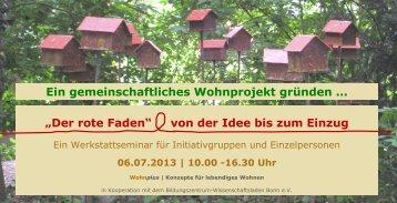 Der rote Faden - Wohnprojekte Portal