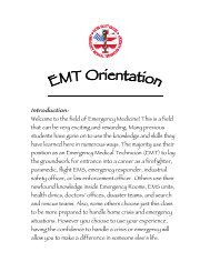 EMT Orientation - Online (click here for pdf document) - Victor Valley ...