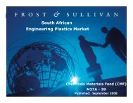 South African Engineering Plastics Market - Growth Consulting