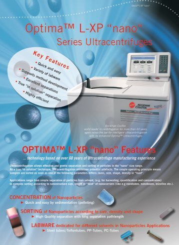 "Optima™ L-XP ""nano"" - Beckman Coulter"