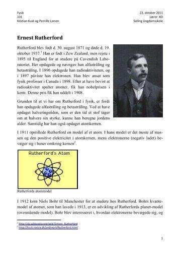 Ernest Rutherford - desiden.dk