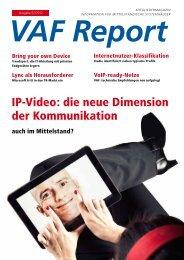 IP-Video: die neue Dimension der Kommunikation - VAF ...