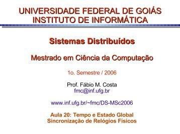 Sistemas Distribuídos - Instituto de Informática - UFG