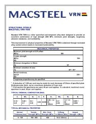 STRUCTURAL STEELS MACSTEEL VRN T690