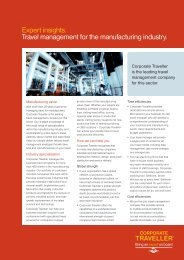 Expert insights. Travel management for the manufacturing industry.