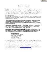 Extra Innings Fellowship Program - The Jackie Robinson Foundation