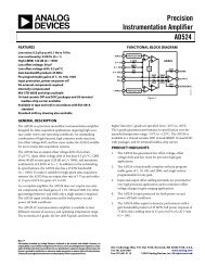 AD524 Precision Instrumentation Amplifier Data ... - Analog Devices