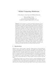Mobile Computing Middleware - UCL Department of Computer ...