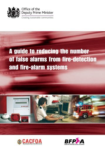 A Guide To Reducing The Number Of False alarms From fire