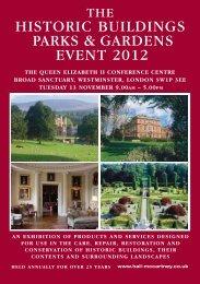 The historic buildings parks & gardens event 2012 - Hall-McCartney ...