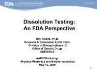 Dissolution testing recommendations