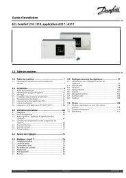 Guide d'installation ECL Comfort 210 / 310, application A217 / A317