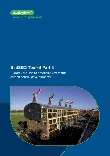 BedZED: Toolkit Part II - BioRegional